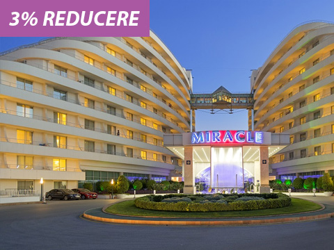 Early booking Vara 2019 Antalya - Miracle Resort 5* (3% reducere*)
