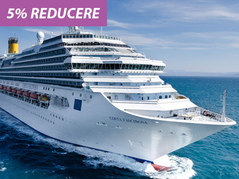Croaziera in Spania, Italia, Franta si Portugalia la bordul navei Costa Favolosa - 10 nopti (5% reducere*)
